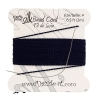 Dazzle-it 100% Silk Bead Cord with needle 2M #4(0.60mm) Navy